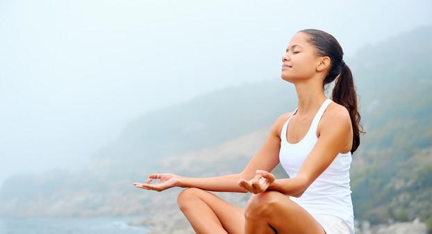 Zen meditation by the sea