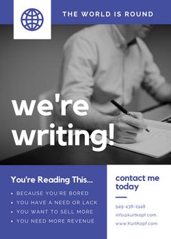we're writing!