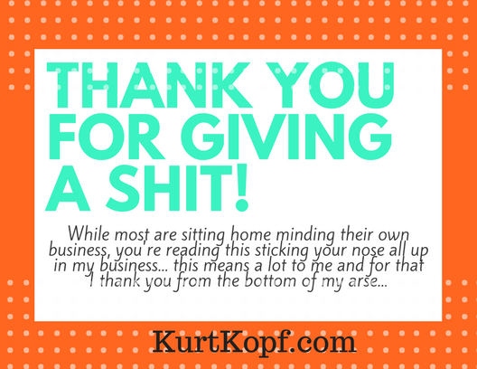 THANKSFOR GIVING A SHIT!