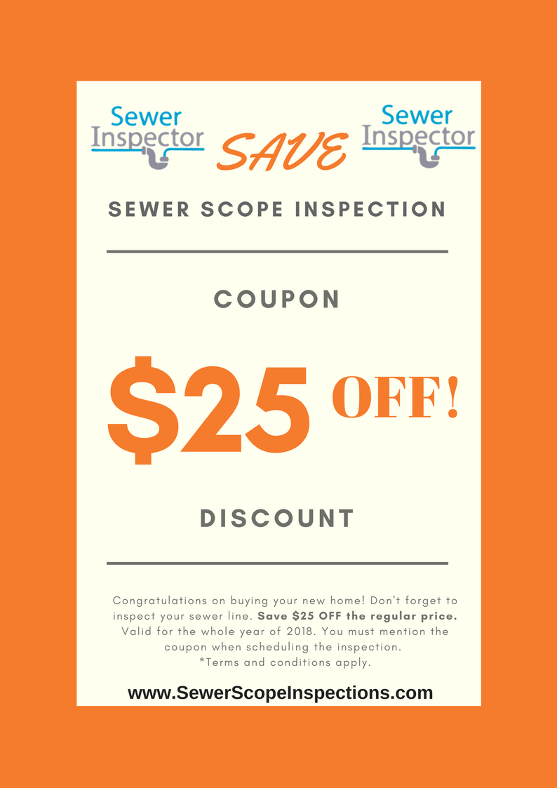 Sewer Inspection Discount Coupon