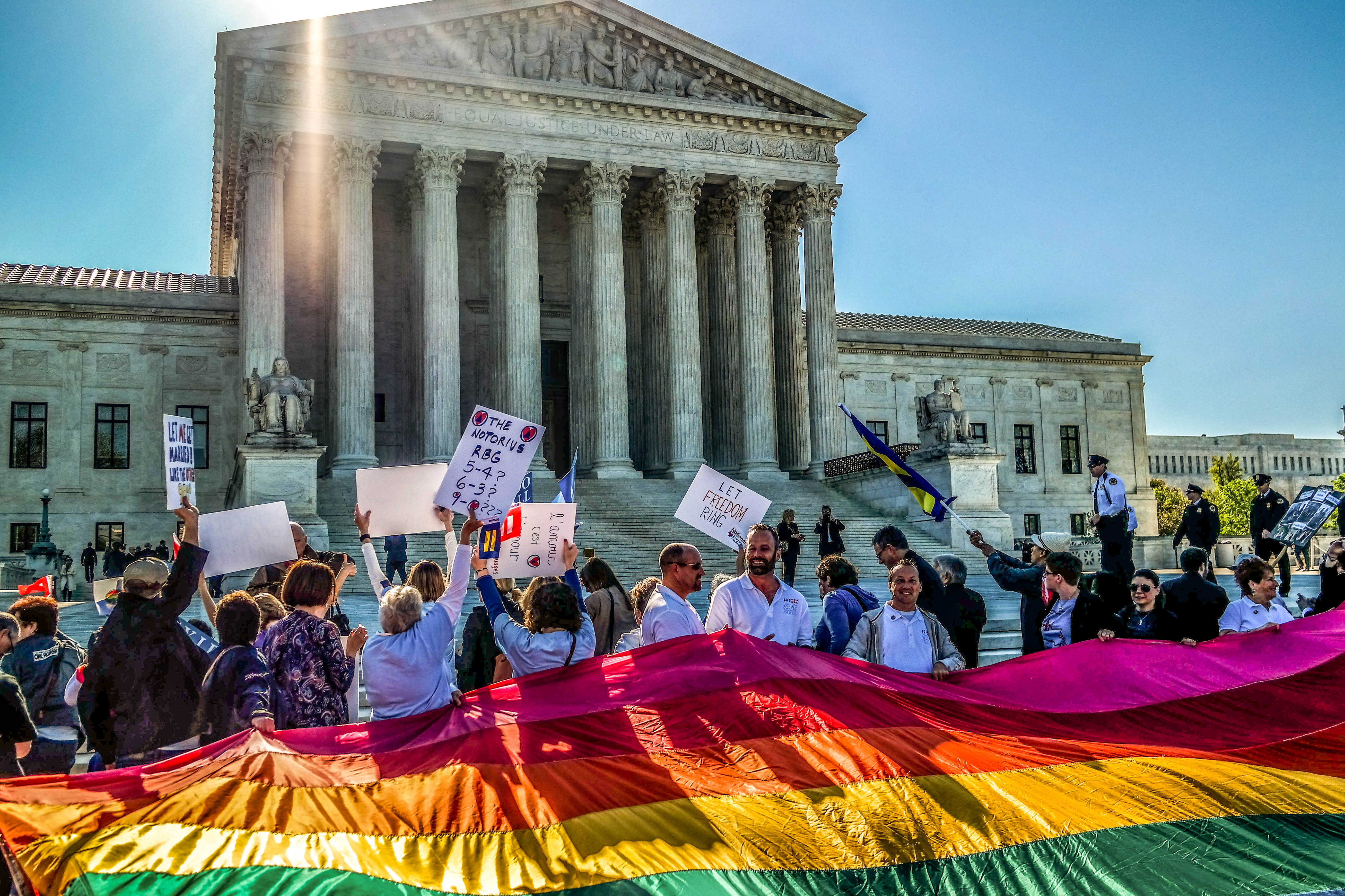 Supreme Court Gay Marriage Rally