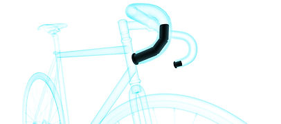 Sherlock inserted into bicycle handlebars diagram