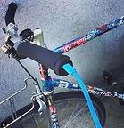 sherlock device being charged inside a bike