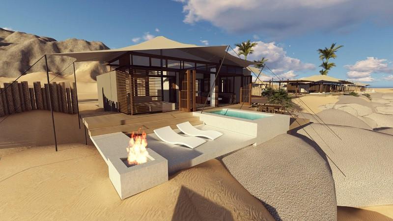 Serra Cafema safari lodge - architectural design