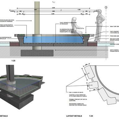 Pond seating detail design