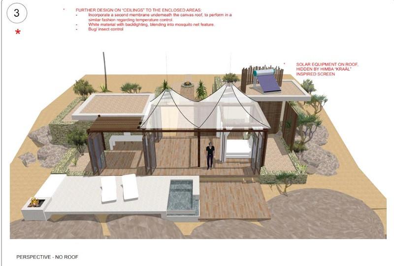 3D architectural design for safari lodge - Serra Cafema