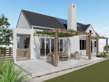 Cape Dutch houses near Stellenbosch