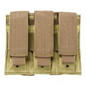 VISM® by NcSTAR® TRIPLE PISTOL MAG POUCH/TAN