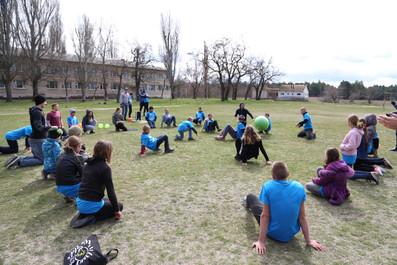 """""""Crab Soccer"""" at Bible Camp"""