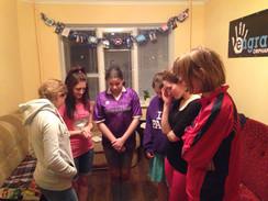 Transition Home Girls Praying