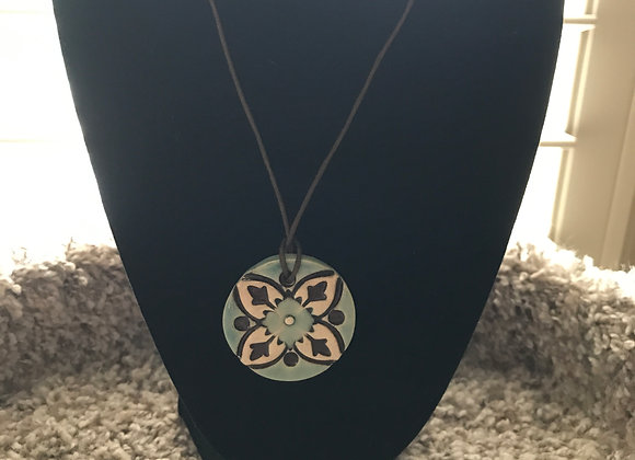 Hand-Made Pottery Necklace