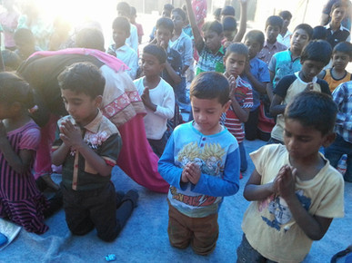 Praying in India Bible Camp