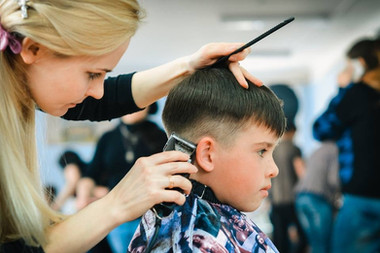 Volunteers provide makeovers for all the children!