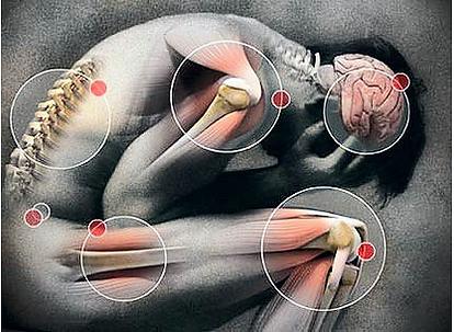 Mal di testa, dolore alla spalla, mal di schiena, lombalgia, dolore inguinale, dolore all'anca, dolore al ginocchio, fibromialgia, trattamento, massaggio. Osteopatia, Dott. Fabrizio Maffeis