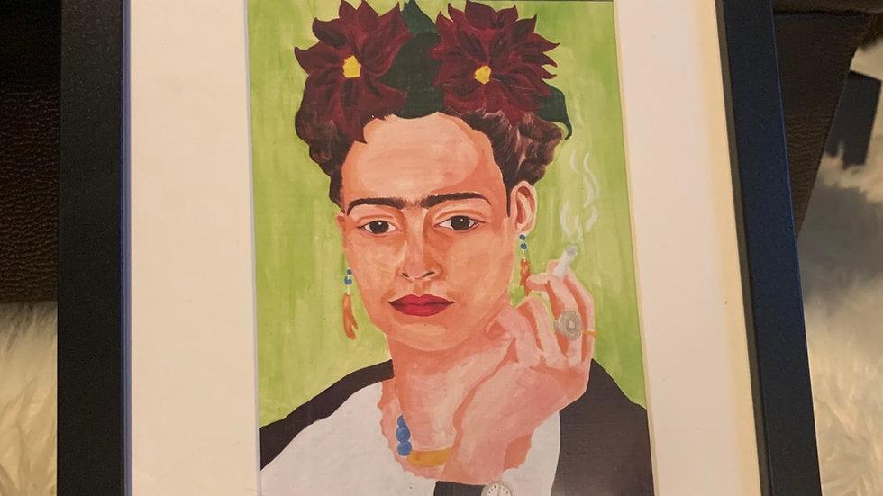 "Framed Print: ""Four Fridas I (green)"" 8x10"