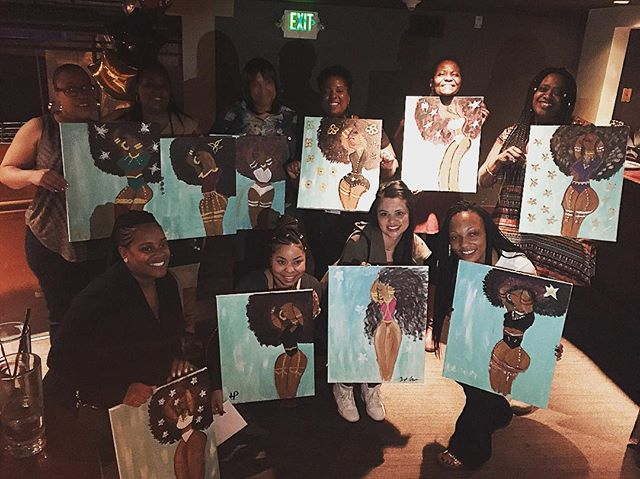 Tonight's bachelorette paint party was everything!! Such a great group of ladies
