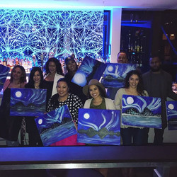 Last nights Paint & Pour was one of our smaller ones, but it was a perfect group! I _swear_ I'm the