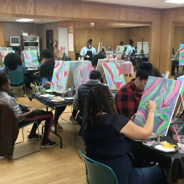First paint party of 2018! Food, drinks, lots of hilarious commentary