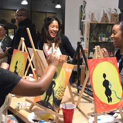 Had a great night hosting Paint & Pour for Amazon tonight! A few glasses of wine and lots of laughs