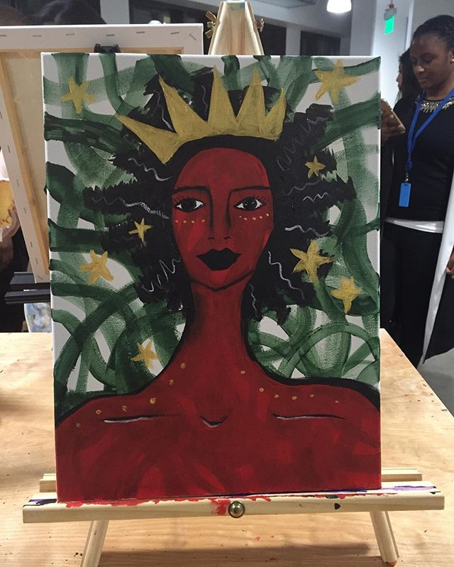 One of my student's lovely work!_ #BlackHistoryMonth #BHM #Amazon #AmazonSeattle #AmazonDoppler _#se