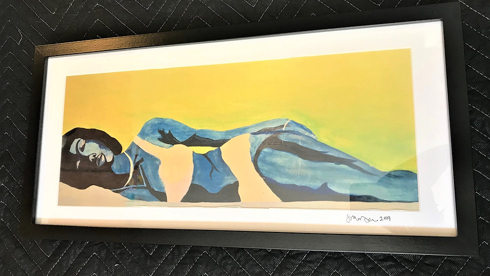 """Framed Print: """"Keisha"""" 20.5 x10"""