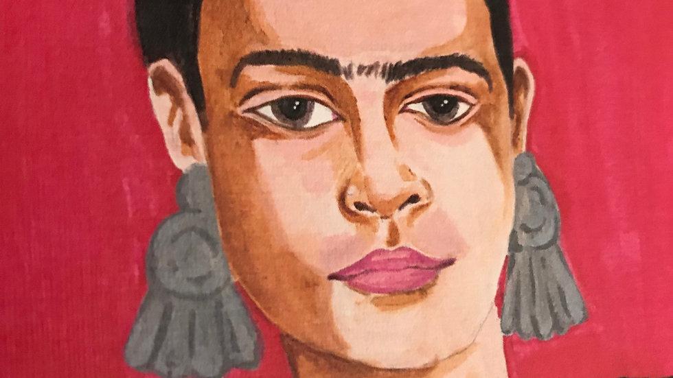 "Framed Print: ""Four Fridas II (red)"" Large 21x17"