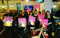 Our Monthly Paint Night at  _atlas_kitchen is so much fun! SECOND WEDNESDAY of every month! First dr