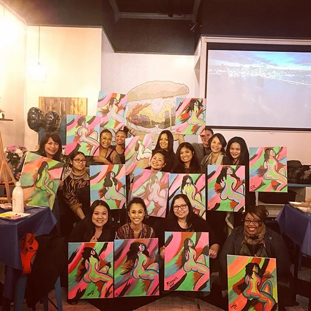What a way to bring in another great year! Birthday paint parties are the best