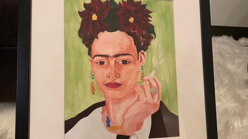 "Framed Print: ""Four Fridas I (green)"" 17x13 Medium"