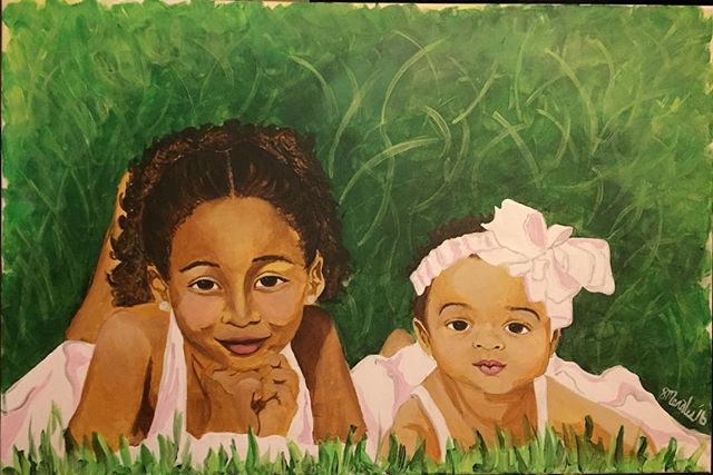 (20x30 acrylic on canvas) New commission ..
