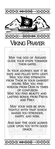 Wall Hanging - Viking Prayer -May the Gods of Asgard