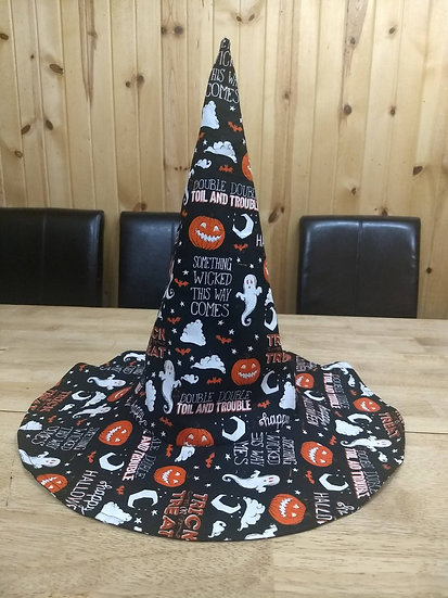 Witch Hat -Ghosts and Pumpkins