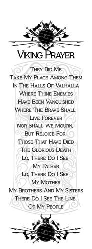 Wall Hanging - Viking Prayer