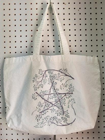 Cotton Canvas Tote - Twig Pentagram