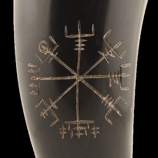 Vegvisir Viking Drinking Horn