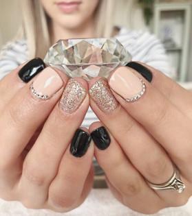 Gel Manicure - Gemstones