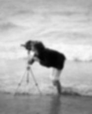 Kevin filming on Brighton beach 1973.jpg
