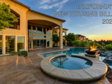 California's New Housing Bills for 2021