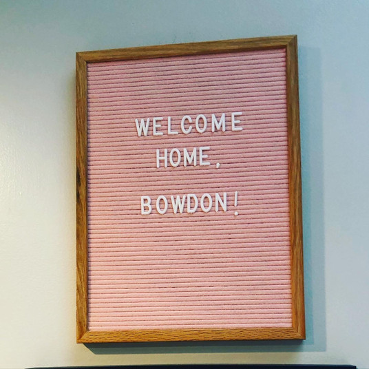 Welcome Home, Bowdon!