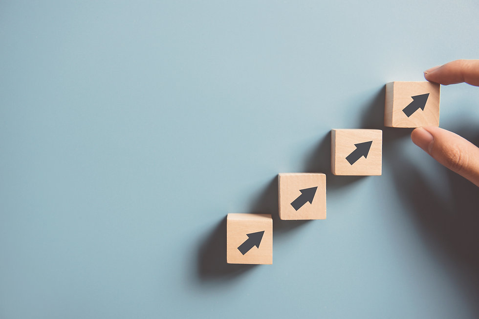 Business concept growth success process,
