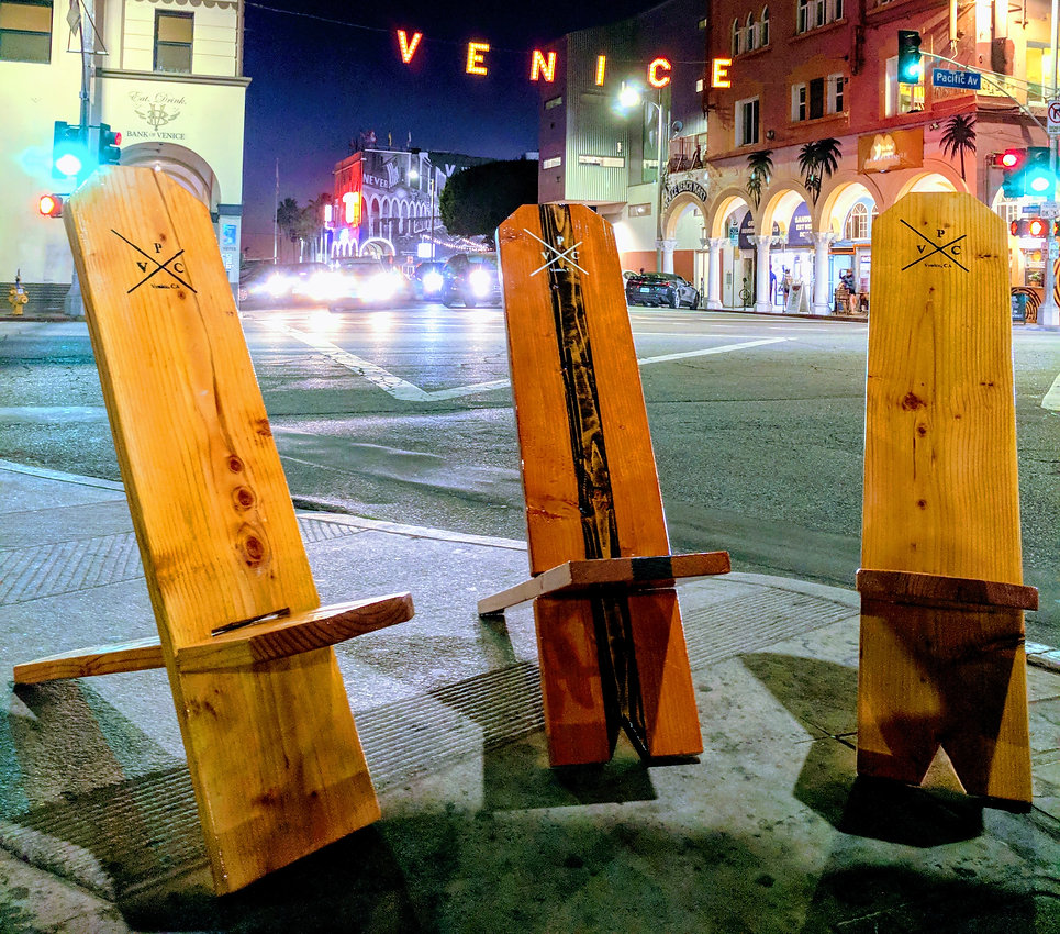 Venice Plank Chairs by Venice Sign