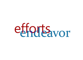 """Efforts"" + ""Endeavor"" = WTF."