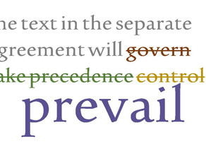 """Control,"" ""Prevail,"" ""Take Precedence,"" or ""Govern""?"