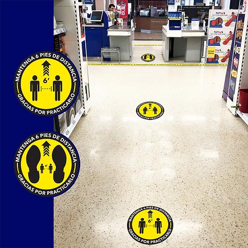 """Social Distancing Floor Sticker (Floor Graphics) 18 """""""