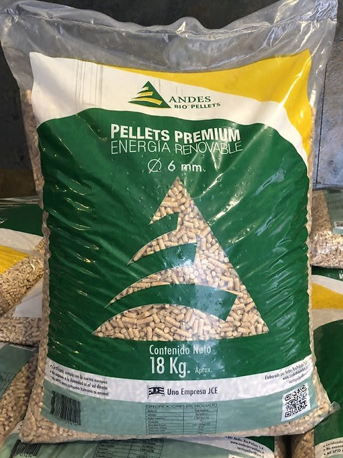 40 Bolsas Pellet Premium Andes Bio Pellet 18Kg