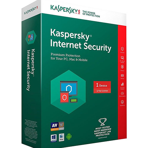 Kaspersky Internet Security 1 PC - 1 Year