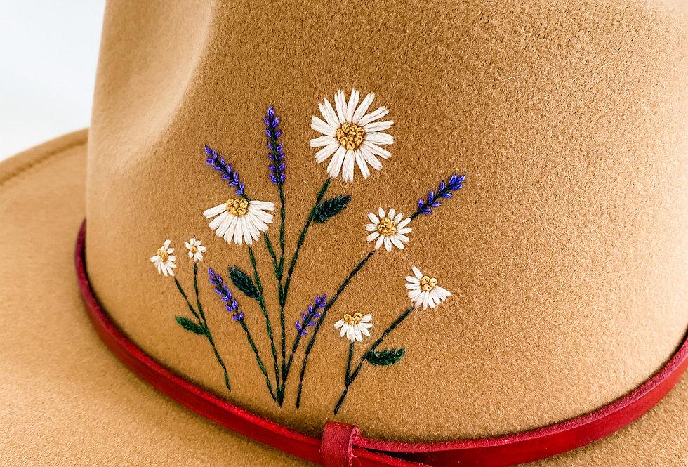 Daisy | Embroidered Felt Fedora