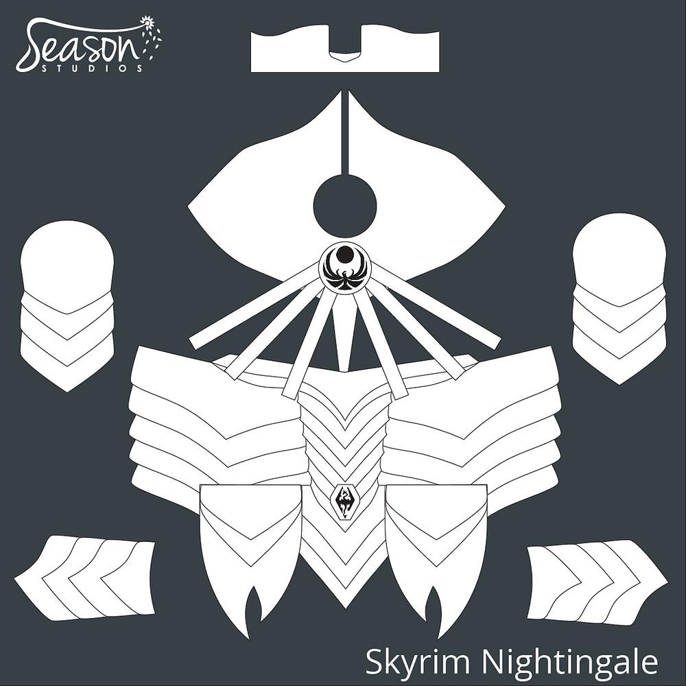 Season Studios | Skyrim Nightingale Costume Design