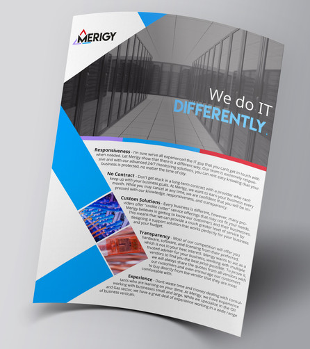 One-Page Services Brochure