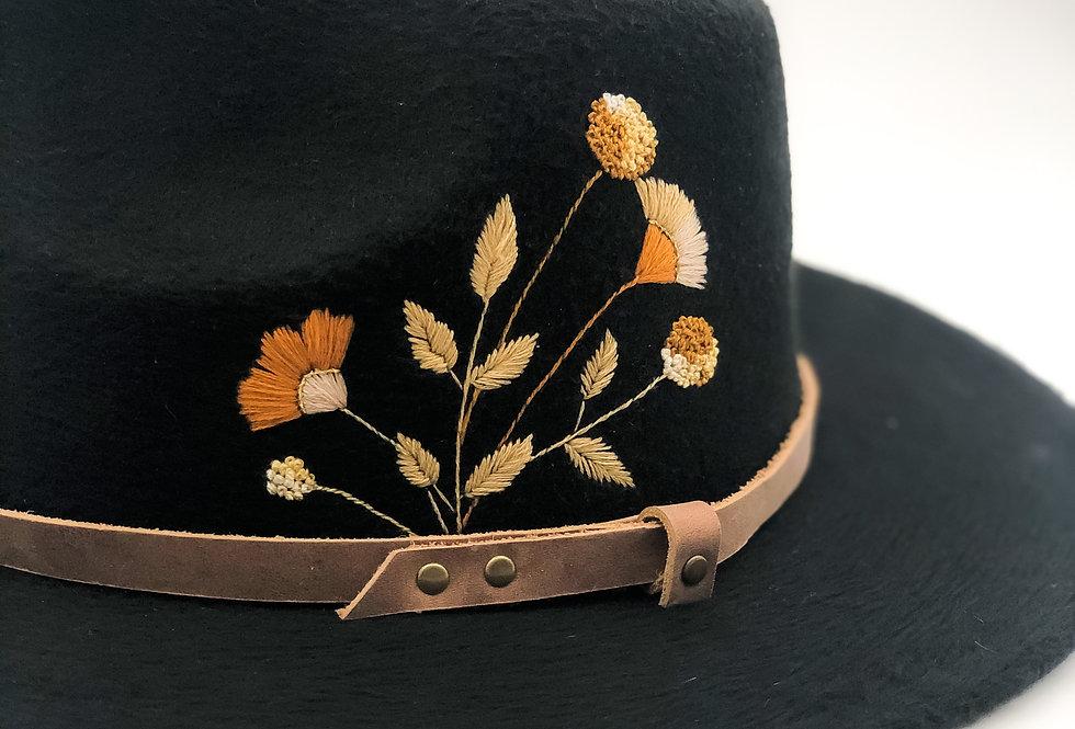 Hazel | Embroidered Felt Fedora